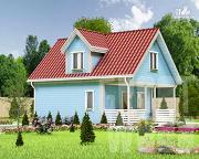 Проект дом с мансардным этажом 8 х 6 м