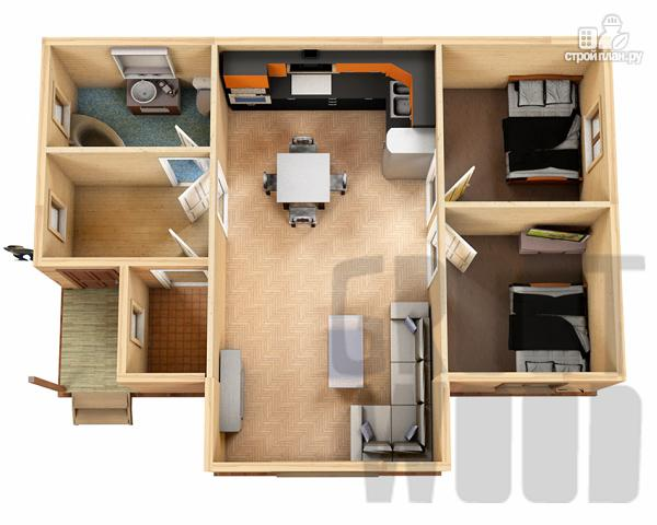 Фото 2: проект одноэтажный дом 10 х 6 м