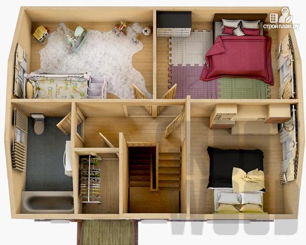 Фото 3: проект полутораэтажный дом 9 х 7 м