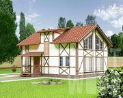 Проект полутораэтажный дом 9 х 7 м