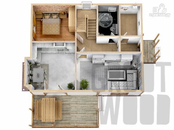 Фото 2: проект двухэтажный дом 10 х 8 м