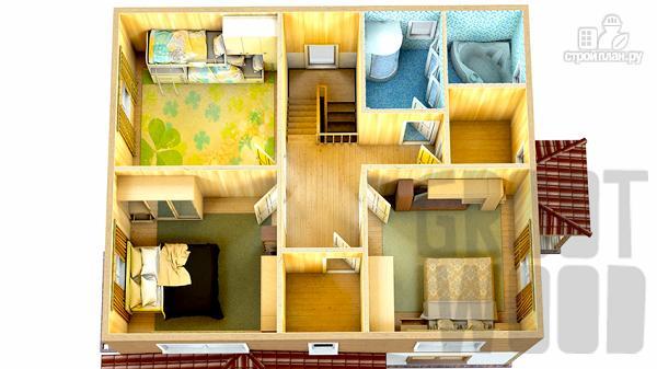 Фото 3: проект двухэтажный дом 10 х 8 м