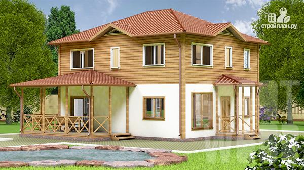 Фото: проект двухэтажный дом 10 х 8 м