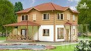 Проект двухэтажный дом 10 х 8 м