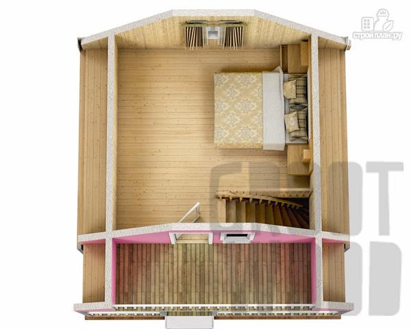 Фото 3: проект дом с мансардным этажом 6 х 6 м