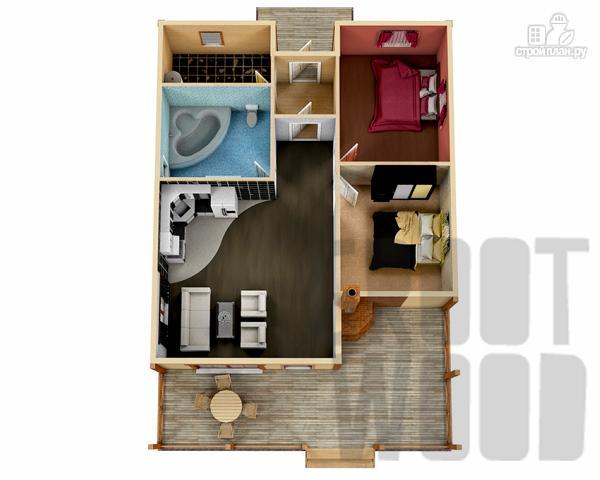 Фото 2: проект одноэтажный дом 13 х 9 м