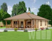 Проект одноэтажный дом 13 х 9 м
