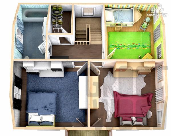 Фото 3: проект полутораэтажный дом 9 х 8 м
