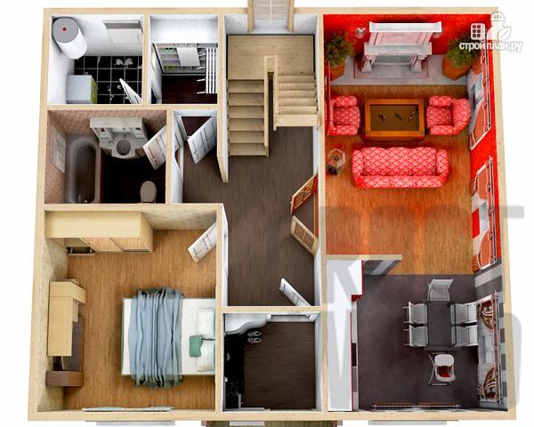 Фото 2: проект полутораэтажный дом 9 х 8 м