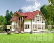 Проект полутораэтажный дом 9 х 8 м