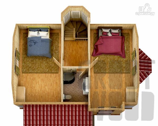 Фото 3: проект полутораэтажный дом 9 х 6 м