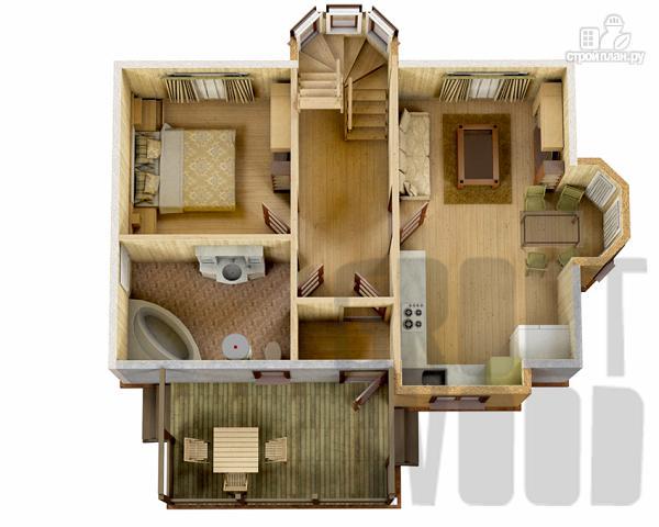 Фото 2: проект полутораэтажный дом 9 х 6 м
