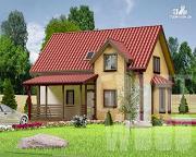 Проект полутораэтажный дом 9 х 6 м