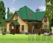 Проект полутораэтажный дом 10 х 8 м