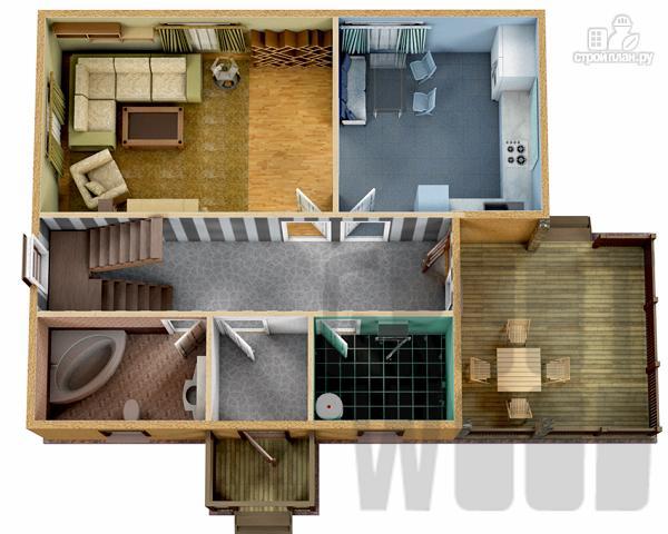 Фото 2: проект полутораэтажный дом 10 х 8 м