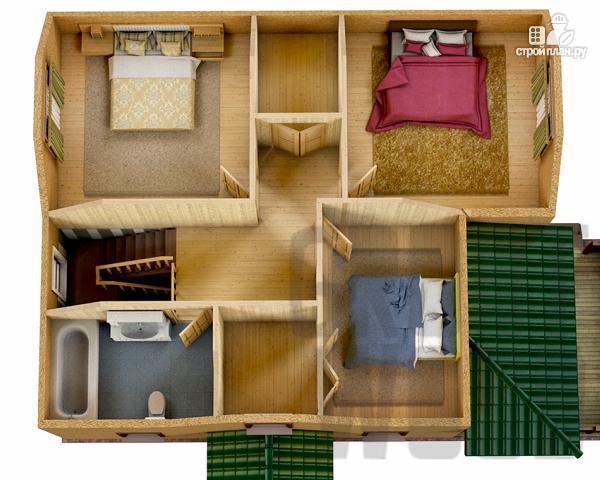 Фото 3: проект полутораэтажный дом 10 х 8 м