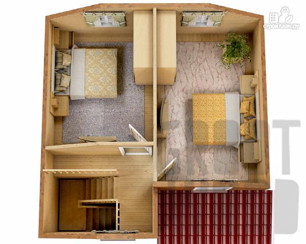 Фото 3: проект полутораэтажный дом 7 х 7 м