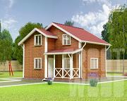 Проект полутораэтажный дом 7 х 7 м