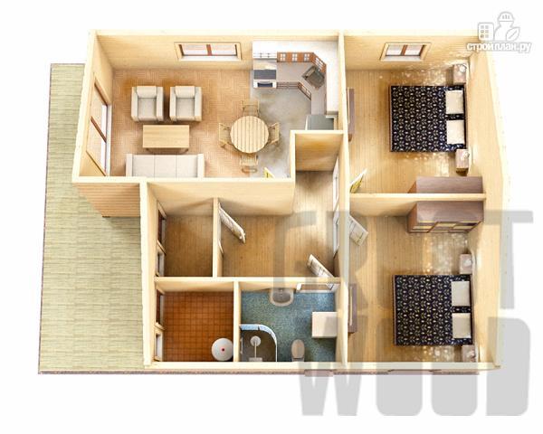 Фото 2: проект одноэтажный дом 11 х 8 м