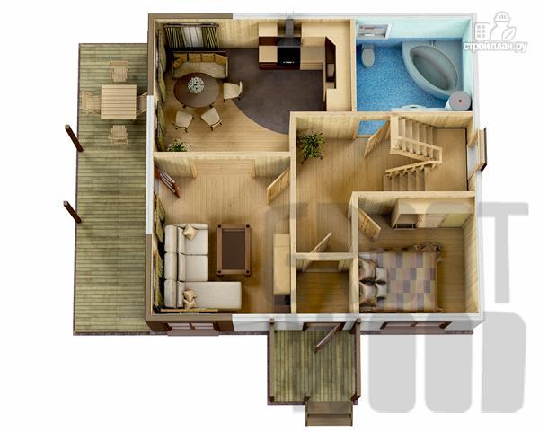 Фото 2: проект двухэтажный дом 8 х 7,5 м
