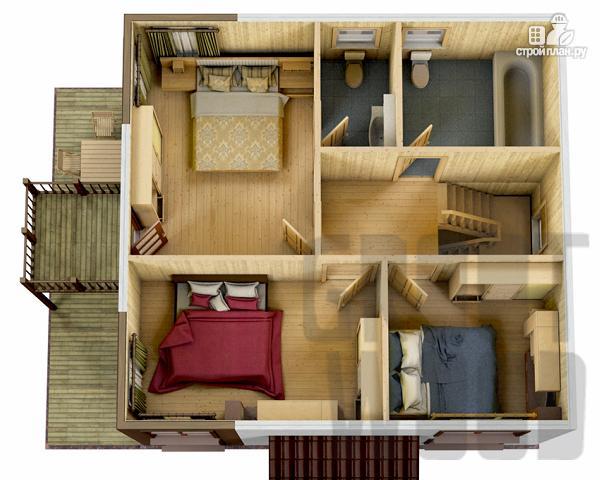 Фото 3: проект двухэтажный дом 8 х 7,5 м