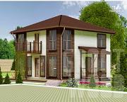 Фото: двухэтажный дом 8 х 7,5 м