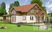 Проект полутораэтажный дом 11 х 8 м
