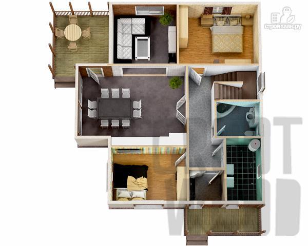 Фото 2: проект полутораэтажный дом 11 х 8 м