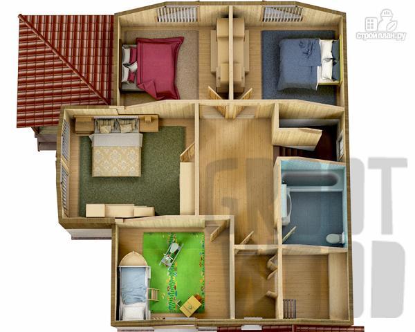Фото 3: проект полутораэтажный дом 11 х 8 м