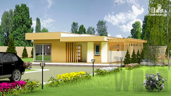 Фото: проект одноэтажный современный дом 10 х 8 м