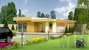 Проект одноэтажный современный дом 10 х 8 м