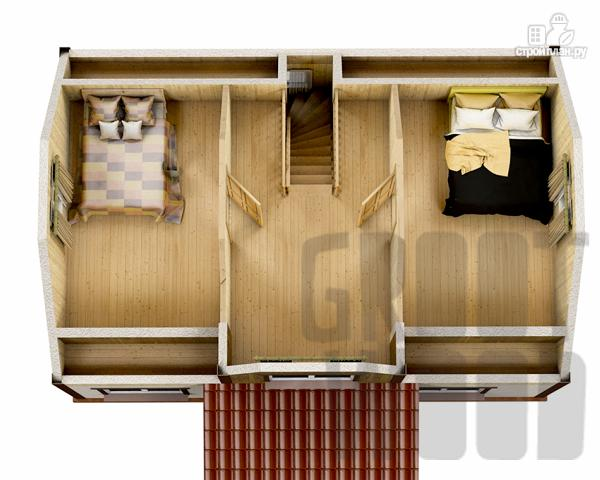 Фото 3: проект дом с мансардным этажом 9 х 6 м