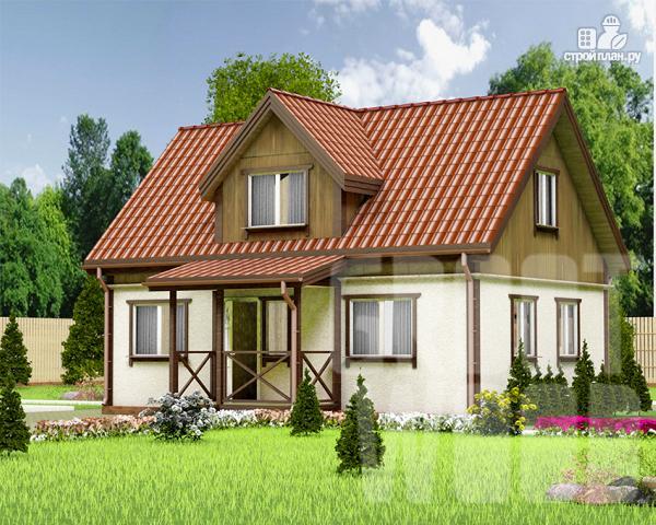 Фото: проект дом с мансардным этажом 9 х 6 м