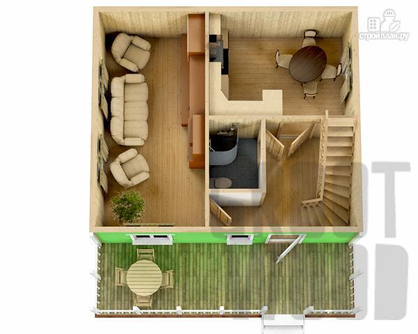 Фото 2: проект дом с мансардным этажом 8 х 7 м