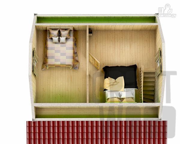 Фото 3: проект дом с мансардным этажом 8 х 7 м