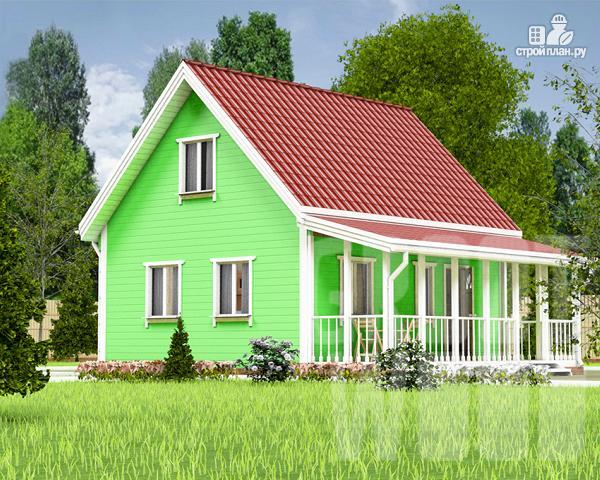Фото: проект дом с мансардным этажом 8 х 7 м