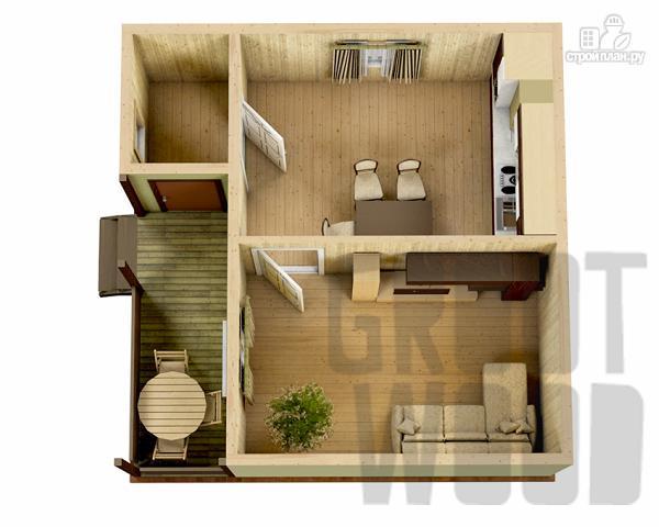 Фото 2: проект одноэтажный дом 6 х 6 м