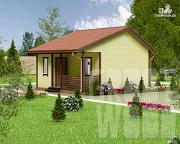 Проект одноэтажный дом 6 х 6 м
