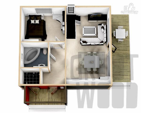 Фото 2: проект полутораэтажный дом 8 х 7 м