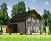 Проект полутораэтажный дом 8 х 7 м