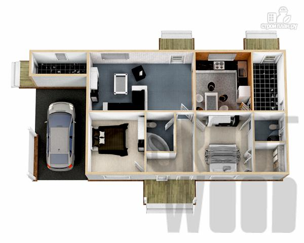 Фото 2: проект одноэтажный дом 15 х 7 м