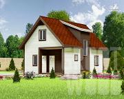 Проект дом с мансардным этажом 9 х 6 м