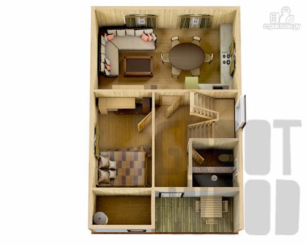 Фото 2: проект дом с мансардным этажом 9 х 6 м