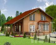 Проект полутораэтажный дом 15 х 13 м