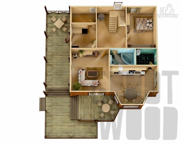 Фото 2: проект полутораэтажный дом 15 х 13 м