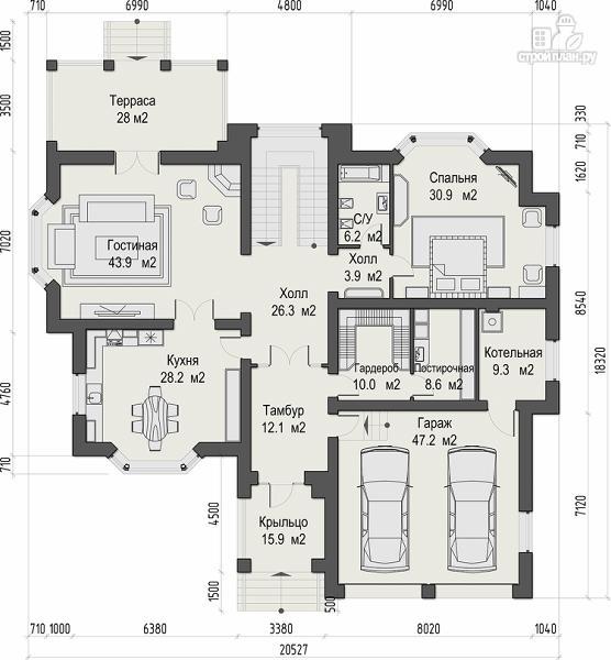 Фото 6: проект уютный дом в американском стиле