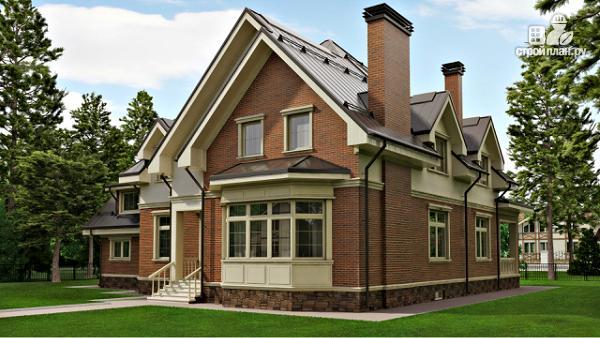 Фото 2: проект уютный дом в американском стиле