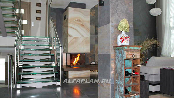 Фото Интерьеры дома по проекту 77А