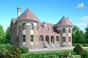 Проект «Брат» - дом на две семьи с угловыми «башнями»