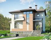Проект современный загородный дом с цоколем